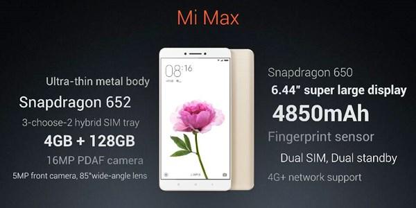xiaomi mi max indonesia, spesifikasi dan harga