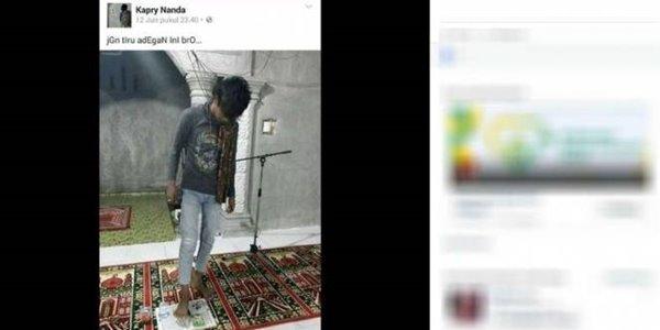 Ditangkap Polisi, Pemuda Penginjak Al Quran Menyesali Perbuatannya