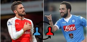 Higuain Merapat, Giroud Rela Dilepas Arsenal ke Napoli