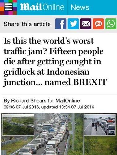 Tewasnya Pemudik di Kemacetan Brexit, Jadi Headline di Media Inggris