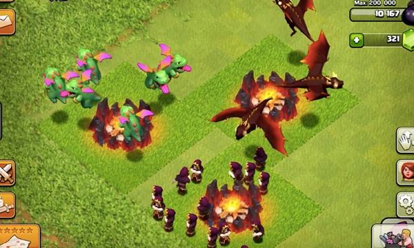 Troop Naga level 6 dan Wizard level 7 update coc Oktober 2016
