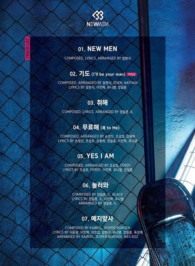 new men track list