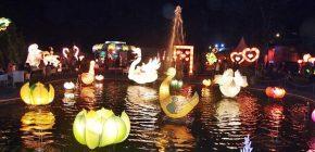 Melihat Keindahan Lampion dan Pelangi di Taman Lampion Jogja