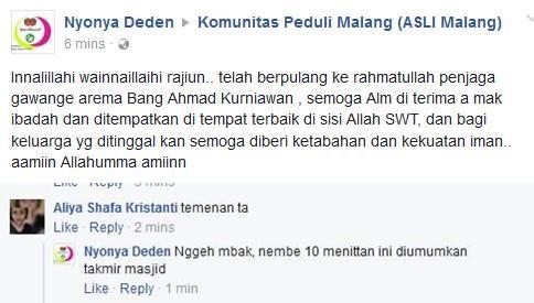 Ahmad Kurniawan, Kiper Arema FC Dikabarkan Meninggal Dunia 2